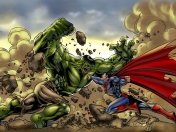 Hulk vs Superman! La pelea definitiva