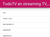 TodoTV TV en streaming app android