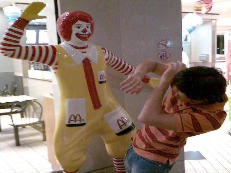 Empleado folla en mc donalds