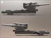 Howitzer 203mm 3D echo en Zbrush By TidegeR