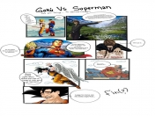 Gokú VS Superman: Ilustrado
