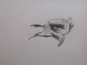 dibujo de merle(the walking dead)