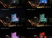 Dexia Tower - Edificio Iluminado con leds