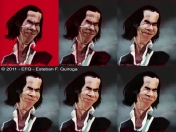Mi ultima Caricatura. A lapiz/Digital - Nick Cave - by efq