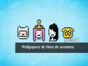 Wallpapers Hora de Aventura Minimalistas.