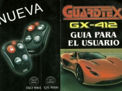 Manual Alarma Guardtex GX-412