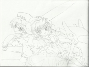 dibujo: Sakura card captor