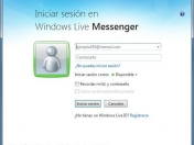 Windows Live Messenger 2011 guarda la direccion de correo