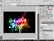 Tutorial  Propio Photoshop - [Spray Paint Text]