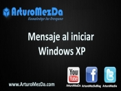 Mensaje al iniciar Windows XP