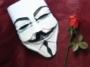Origami mascara V for Vendetta (tipo Anonymous)