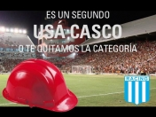 Afiches de Racing cargando a Independiente
