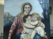 Madonna and two child (paso a paso, oleo)