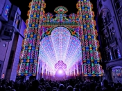 Catedral hecha con 55000 luces led, increíble.
