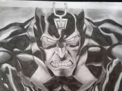 Mi Dibujo de Black Bolt (Marvel Comics) a Lapiz
