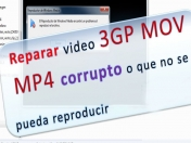 Reparar video mp4 mov 3gp que no se pueda reproducir